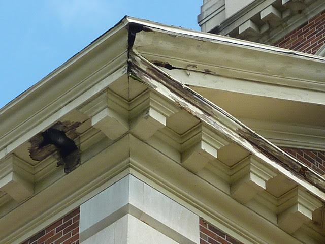 P1080102-2012-05-08--Decatur-1st-Baptist-by-Lewis-Crook-classic-Portico-Repair-1948-51-damage-detail