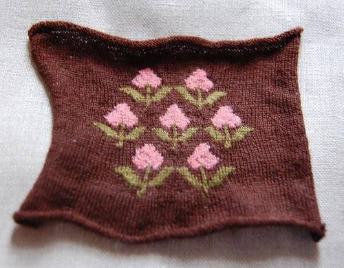 Strawberry Pinball--Half Knitted!