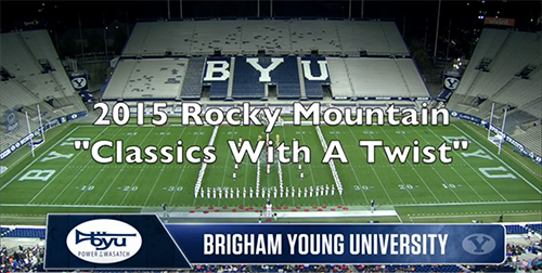 BYU Marching Band – Watch the Marching Band's 2015 Rocky Mountain Performance