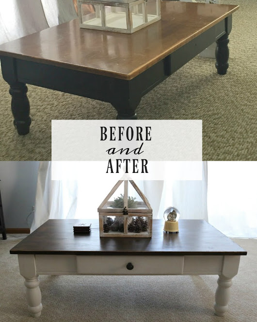 Before & After || Coffee Table - The Pearl Magnolia