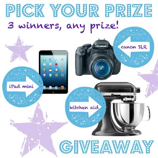 Amazing Pick Your Prize Giveaway! {Canon Camera, iPad Mini, Kitchen Aid} - Decorchick! ®