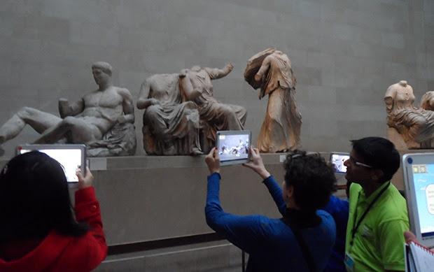 Использование дополненной реальности в Британском музее. Изображение: techweekeurope.co.uk