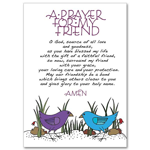 A Prayer For My Friend Praying For You Card Friendship