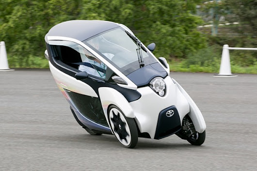 Testing Toyota's three-wheel, leaning i-Road trike in Japan