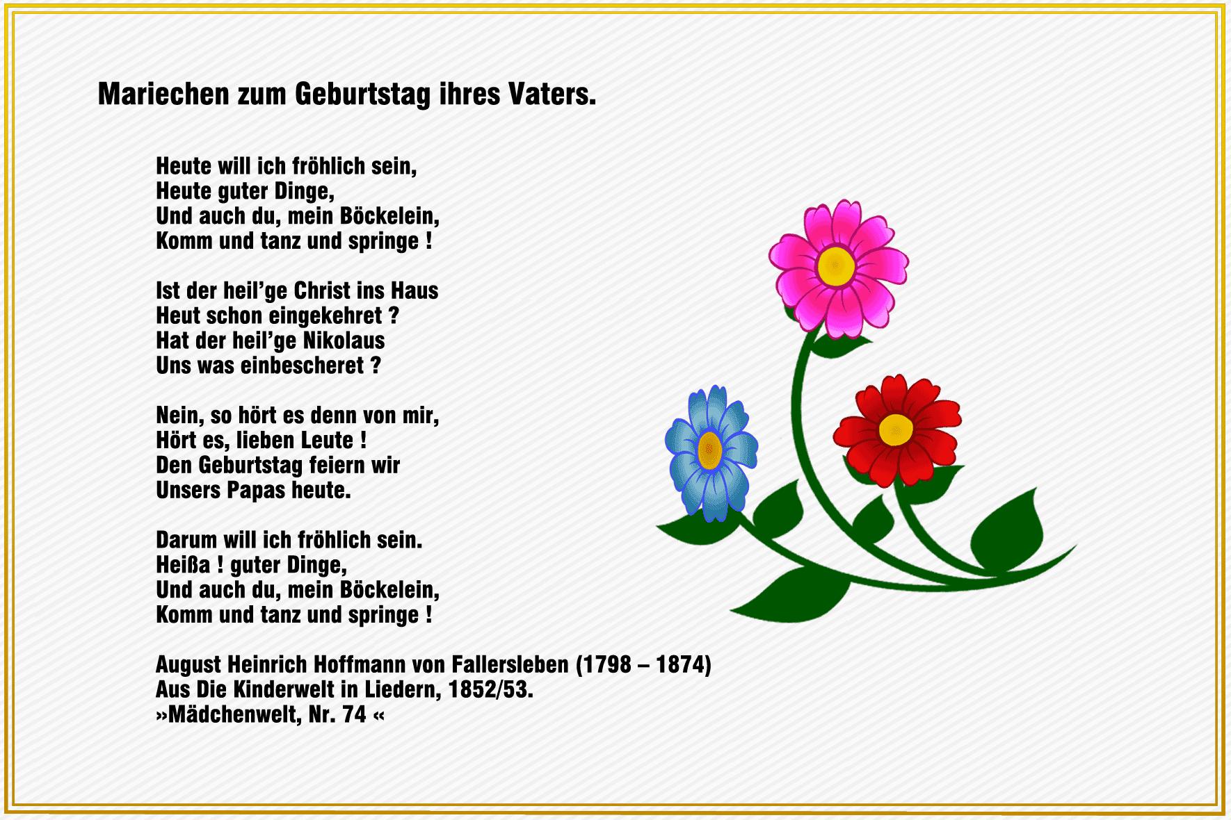 Zum Geburtstag Gedicht Für Papa Sirin Mian
