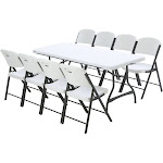 Lifetime Combo - Banquet 6' Commercial Table and (8) Folding