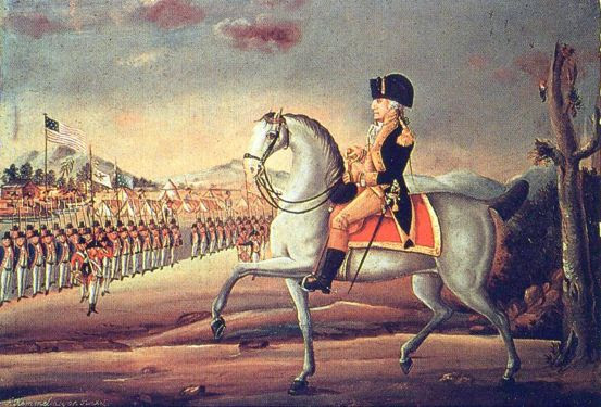 General Washington Reviewing The Western Army At Fort Cumberland, Maryland