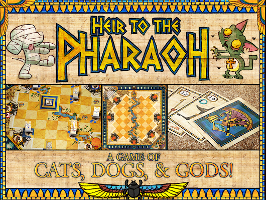 Heir to the Pharaoh: A 2-Player Game of Cats, Dogs & Gods! by Gryphon and Eagle Games —  Kickstarter