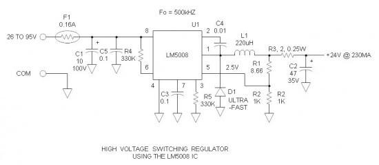 High Voltage Switching Regulator 24V