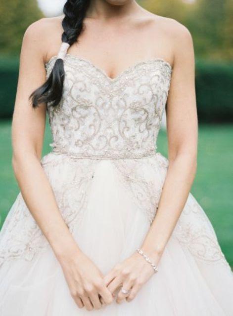 strapless verschönert Mieder winter Hochzeit Kleid sieht sehr süß und romantisch