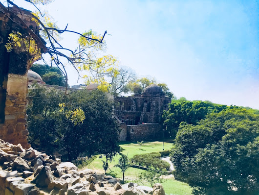 The remnants of Hauz Khas Fort, Delhi - The Wandering Core