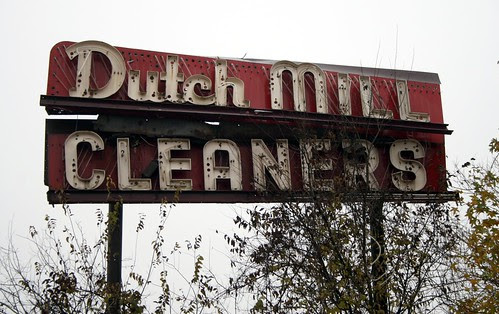 dutch mill cleaners neon sign