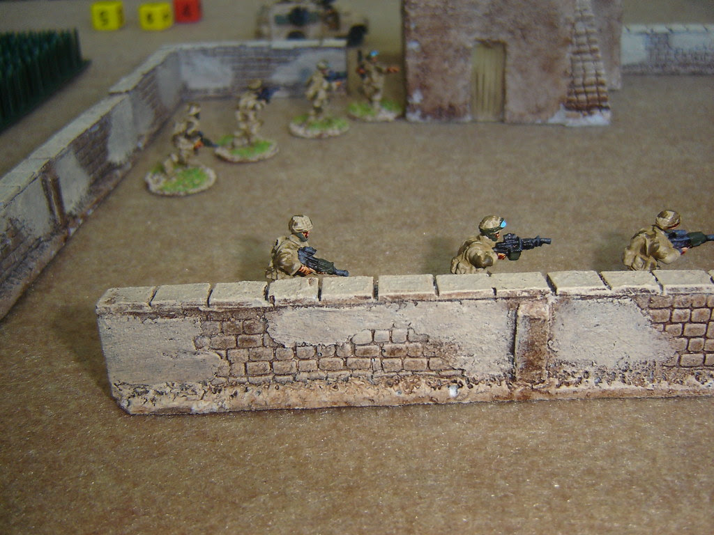 British section clears first compound