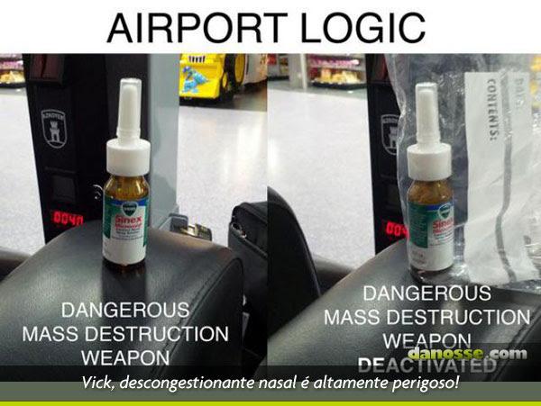Aeroporto desativando arma letal