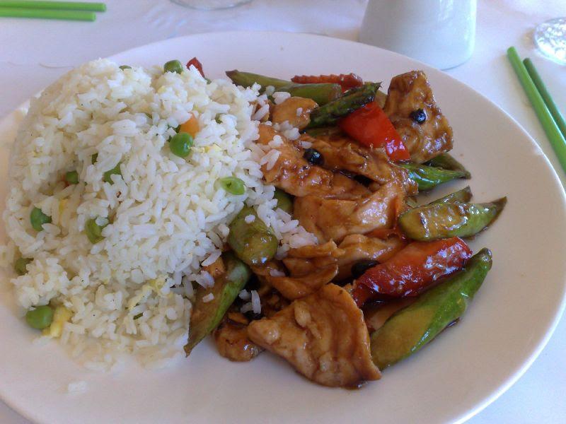 Salmon & Asparagus w/Fried Rice