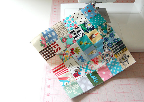 playing with fabric scraps