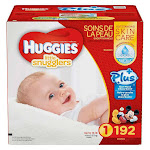Huggies Little Snugglers Plus Diapers, Size 1 - 192 count