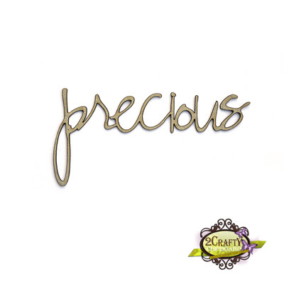 Precious - Loopy Font (unit of 3)