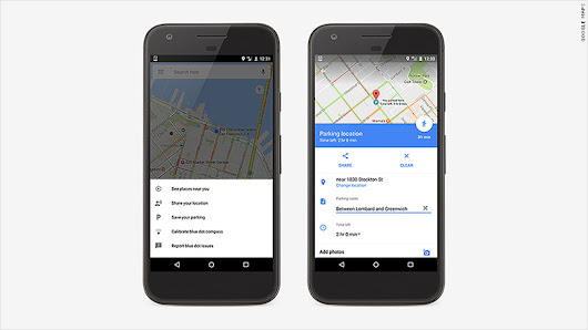 Google Maps now remembers where you parked your car - Apr. 26, 2017