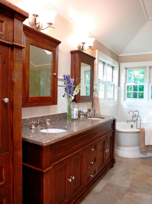 Maximize Space, Light and Style in the Bathroom