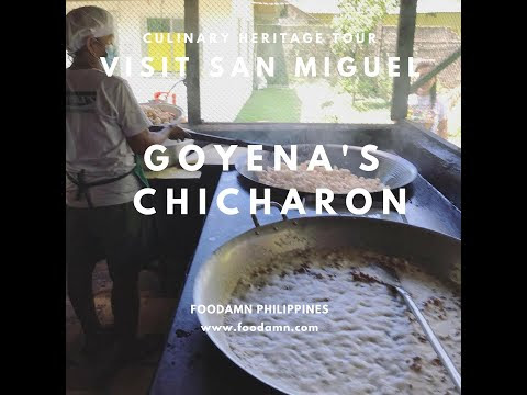 Visit San Miguel: Goyena's Chicharon Food Demo