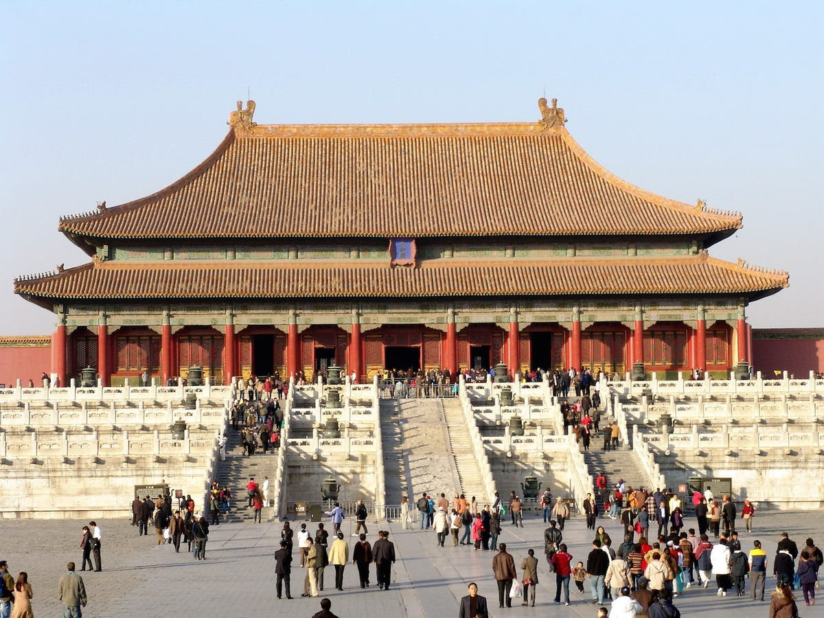 The Forbidden City temple in Beijing, China.