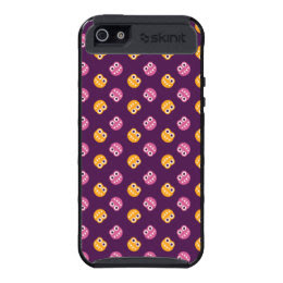 Protective Purple Pink And Orange Bugs Pattern Case For iPhone 5