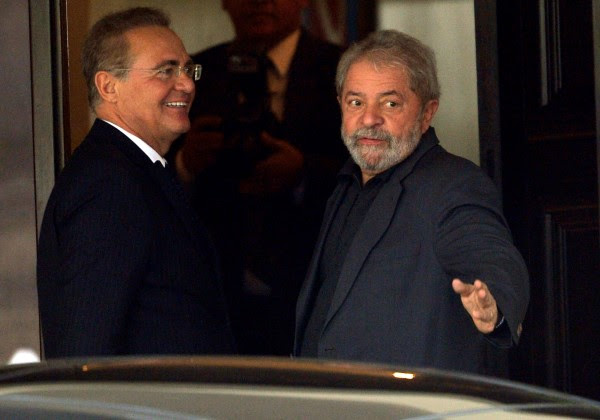 Renan Calheiros se reúne com o ex-presidente Lula   Foto: Divulgação