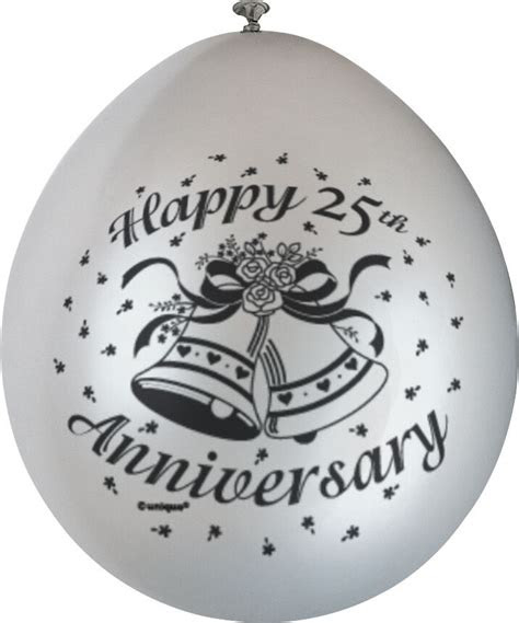 happy  anniversary balloons silver wedding party