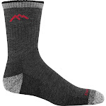 Darn Tough Men's Hiker Micro Crew Cushion Socks, Black/Gray