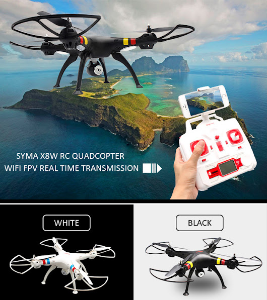 Syma X8W WiFi FPV Headless Mode 2.4G Rc Quadcopter 6 Axis Gyro 3D Roll Stumbling UFO with HD Camera (Black) | Lazada Malaysia