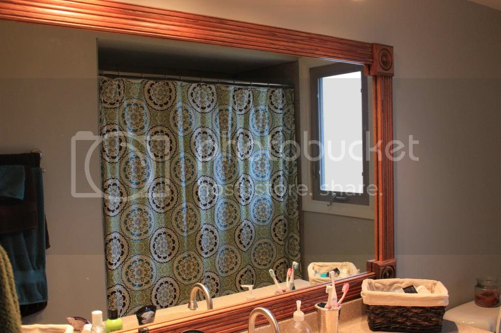 Shower Curtain Blue Brown and Green