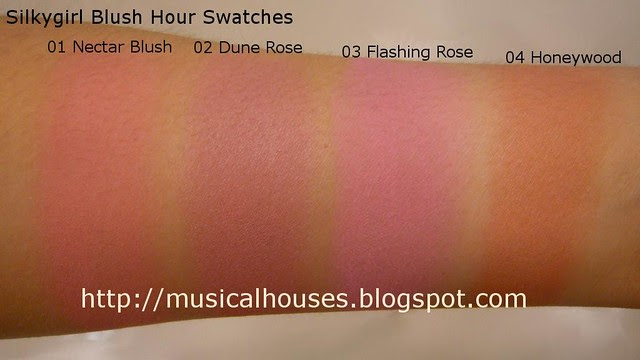 silkygirl blush hour swatches