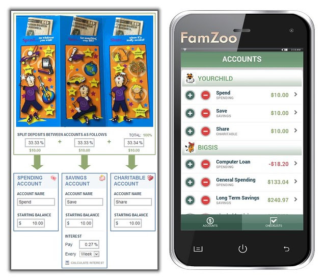 Deposit Your Child's TripleGift Amounts into FamZoo's Virtual Family Bank Accounts