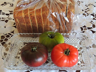 Heirloom Tomatoes and Fresh Baked Bread