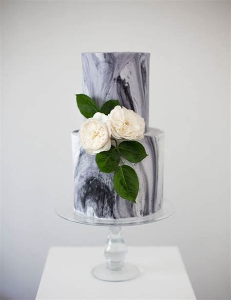 On Trend Works of Art: 11 Marble Wedding Cakes   OneFabDay.com