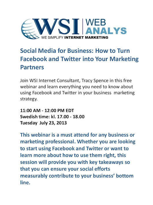 WSI Webinar - Social Media for Business: How to Turn Facebook and T...