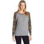 Alternative - Ladies' Slouchy Eco-Jersey Pullover-ECO Grey/ CAMO-L