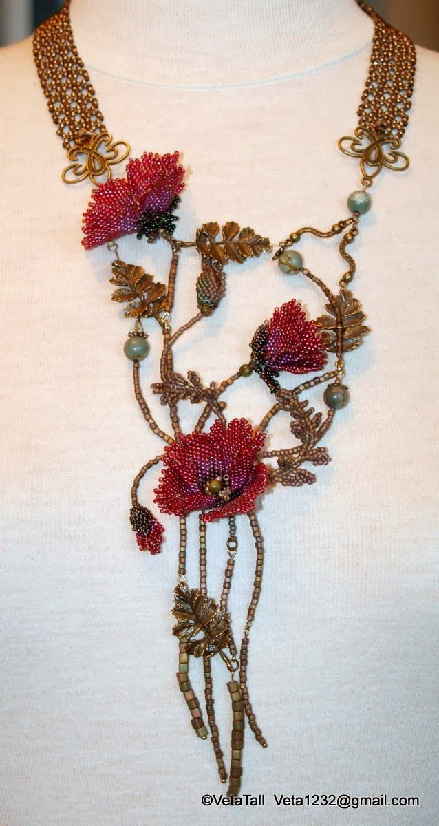 Veta's Art with Beads: Poppies / Маки