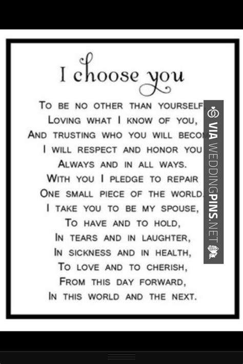 I choose you   {Weddings} Readings   Pinterest   Wedding