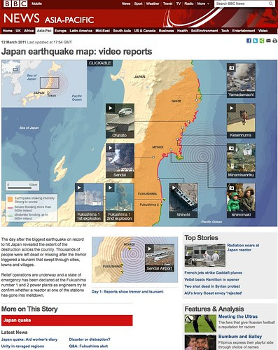 BBC News - Japan earthquake map: video reports