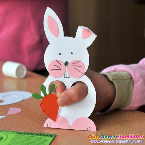 10 Adet Artık Materyaller Ile Yapılabilecek Tavşan Etkinliği Okul