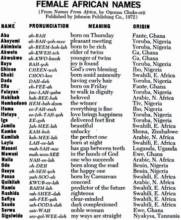 awesome black girl names