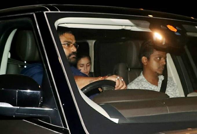 Alia Bhatt Seen Exterior Ranbir Kapoor's Home Pictures