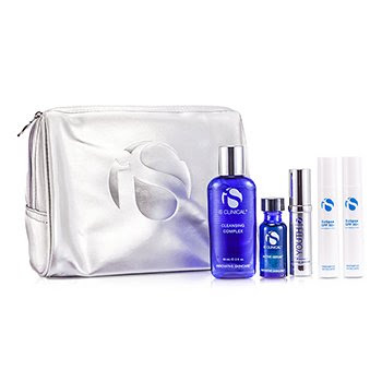 IS Clinical Anti-Aging Travel Kit: Cleansing Complex + Active Serum + Youth Complex + Eclipse SPF 50+ + Bag 5pcs+1bag