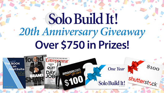 Win Over $750 in Prizes With the Solo Build It! Anniversary Giveaway!