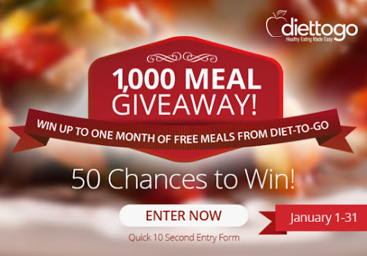 Enter for a chance to win 1,000 Diet to Go Meals