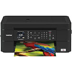 Brother - Work Smart Series MFC-J497DW Wireless All-In-One Printer - Black