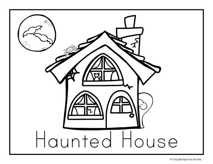 Simple House Coloring Pages at GetColorings.com | Free ...