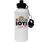 Mexican Boys Love Me Aluminum 600ml Water Bottle